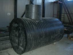 Емкость (бак) для хранения дизельного топлива, ГСМ, масла 5 куб.м. 1500х25х3000 мм