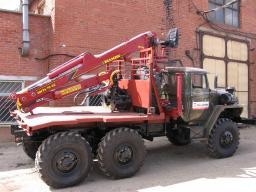 Лесовоз Урал 4320 с консервации с гидроманипулятором ОМТЛ-70.02