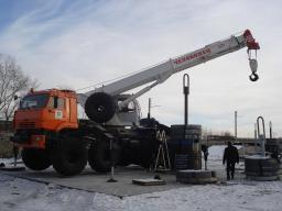 КМП 8х8 Автокран снегоболотоходный