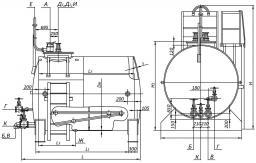 Резервуар горизонтальный стальной РГС от 3 до 100 куб.м. наземные/подземные