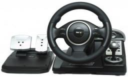 Руль Dialog GW-23FB Гран Туризмо2 (250мм/педали+коробка/12кн/180гр/вибрация+обр связь/присоски, PC/PS1&2/GC) USB