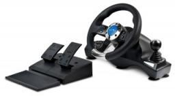 Руль Oklick W-3 Sportline (педали+коробка/12кн/270гр/вибрация/присоски, PC) USB