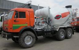 Автобетоносмеситель 5DA на шасси КАМАЗ-43118 (с приводом от автономного двигателя)