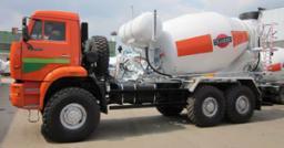 Автобетоносмеситель 8DA на шасси КамАЗ 65222 (с приводом от автономного двигателя)