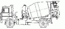 Автобетоносмеситель 11DA на шасси КамАЗ-65201 (с приводом от автономного двигателя)