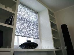 Рулонные шторы, тканевые роллеты, открытого типа, тканевые роллеты с коробом, бамбуковые роллеты