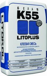 Белый клей «Litoplus K55» 25кг, LITOKOL (C2TE, согласно EN 12004)