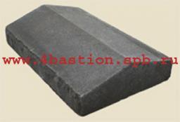 Производство заборов.Бетонные заборные блоки Рубленый камень .Крышка Забора КЗ-40