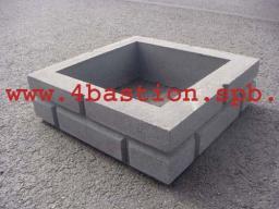 Производство бетонных заборов.Заборные блоки Кирпич.Блок Столба Кирпич.БС Кирпич