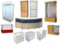 Прилавки и витрины торговые из ЛДСП. Ассортимент.