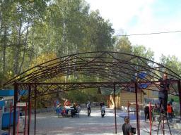 Производство арочных ферм для навесов