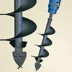 Шнек S4, D — 150мм, L — 1200 мм. Абразивное бурение. (Х2000...4500МАХ; RD2...RD5) 30-40155200