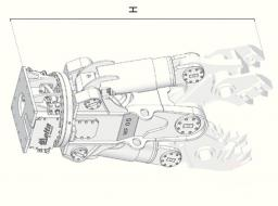 Гидравлические ножницы Delta MF-40 (без подвески и челюстей)