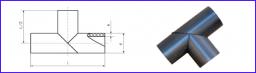 Tройник сварной, равнопроходный SDR11 PN 16