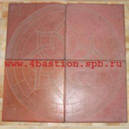 Тротуарная плитка 30x30 ОРЕОЛ.красная