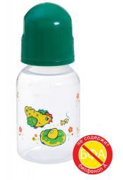 Бутылочка полипропиленовая с силиконовой соской, 125 мл.