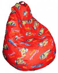 Кресло мешок феррари, флок, замша