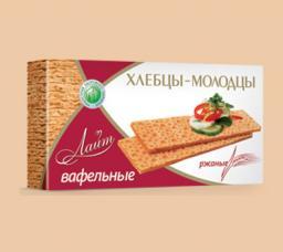 Хлебцы вафельные «Хлебцы-молодцы» «Лайт» ржаные (в ассортименте)