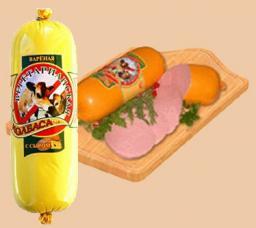 Колбаса вареная с сыром ТМ «Малика»