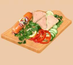 Паштетная колбаса со вкусом бекона ТМ «Малика»