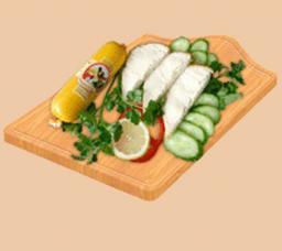 Паштетная колбаса со вкусом курицы ТМ «Малика»