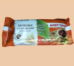 Печенье «Со злаками» на фруктозе (кукуруза, отруби, подсолнечник, лён) в ассортименте