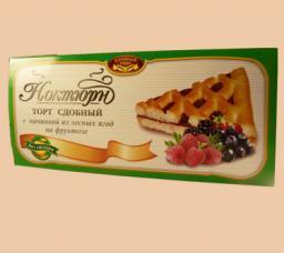 Торт «Ноктюрн» сдобный с начинкой из лесных ягод на фруктозе в ассортименте