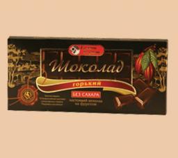 Шоколад классический горький на фруктозе