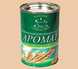 Напиток кофейный растворимый «Аромат» (с кардамоном и цикорием) в ассортименте