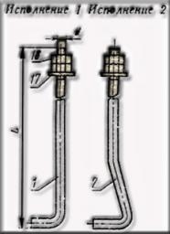 Болт фундаментный ГОСТ 24379,1-80 тип 1.1. М42х800