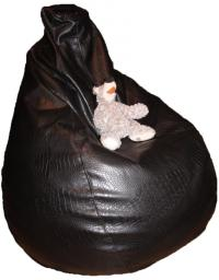 Кресло мешок из кожи крок черн, в наличии!