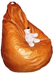 Кресло мешок кожа крок корич, в наличии!