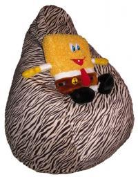 Кресло мешок из велюра, тигр, в наличии!