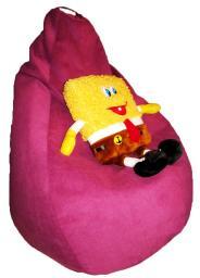 Кресло мешок из велюра, сиреневый