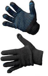 Рабочие перчатки хб с ПВХ «Премиум Люкс» черные 6 нитей, 7,5 кл вязки