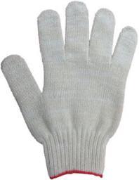 Рабочие перчатки ХБ с ПВХ «Эконом13» белые, 3 нити, 13 кл. вязки