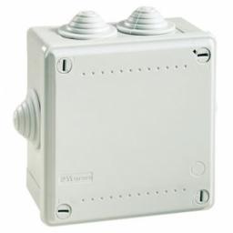 Коробка 100x100x50 IP55 (53800) Коробка ответвительная с 6 кабельными вводами