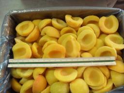 замороженный персик половины