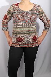 Блуза-туника с буфами SIXTH SENSE