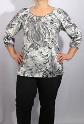 Блуза-туника с буфами CANDA
