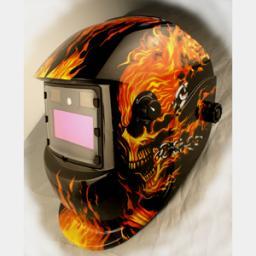 маска сварщика с автоматическим затемнением(LED)HE-1113L-bf