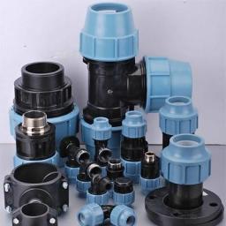 Компрессионные фитинги для ПЭ труб диаметром до 110 мм