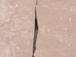 Камень для дорожек Песчаник бордовый 3-4 см.