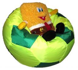 Кресло мячик лимонно-зеленый, в наличии