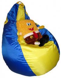 Кресло мешок желто-синий