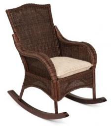 Кресло-качалка плетеная из ротанга