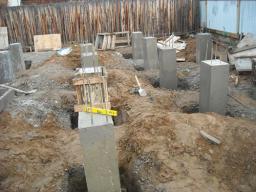 Строительство столбчатых фундаментов