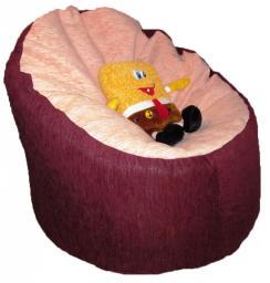 Легкая мебель из гранул пенопласта, кресло трон