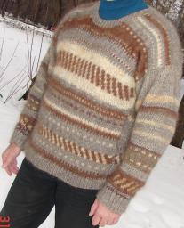 Дизайнерская пряжа для экономных рукодельниц. Вязание свитеров.