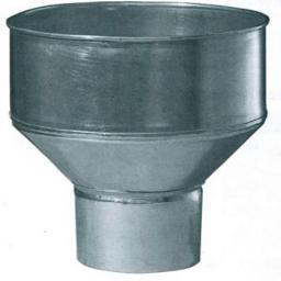 Воронка водосборная оцинкованная Ф-100/250мм